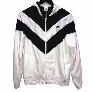 Adidas || Zip-up windbreaker jacket